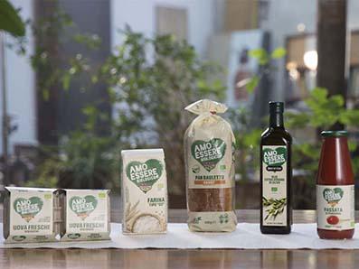 La gamma dei prodotti Amo Essere Biologico di Eurospin